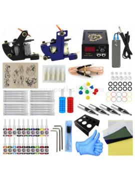 タトゥー 道具 1 黒 そして 1 ブルー 機械 20 色