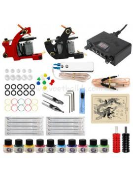 タトゥー 道具 1 黒 そして 1 赤 機械 10 色