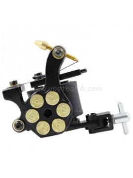 タトゥー マシン N105 10 層状コイルアイアンシェーダー 弾丸 黒
