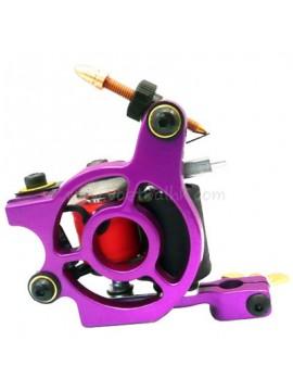 タトゥー マシン N110 10 層状コイル色 アルミニウム シェーダベアリング 紫色