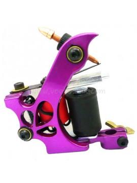 タトゥー マシン N110 10 層状コイル色 アルミニウム シェーダドロップ 紫色