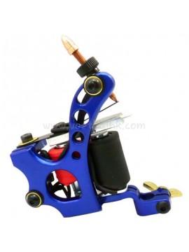 タトゥー マシン N110 10 層状コイル色 アルミニウム シェーダ穴 ブルー