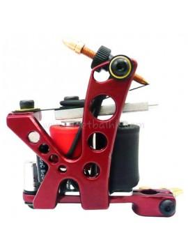 タトゥー マシン N110 10 層状コイル色 アルミニウム シェーダ穴 赤