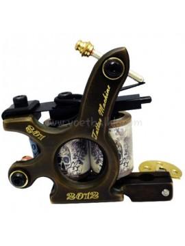 タトゥー マシン N120 10 層状コイルブロンズシェーダー 801